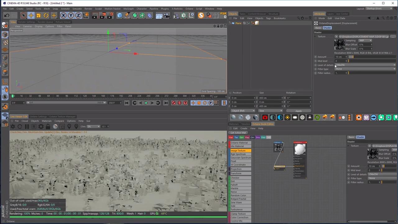 Using Displacement in Octane Render for Cinema4D | CG TUTORIAL