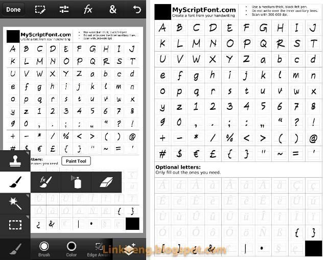 Edit script template font