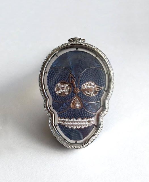 Petit Skull Blue Diamonds from Fiona Kruger