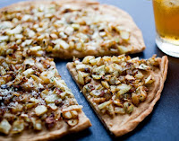 Pizza de Cebolinha e Funcho (vegana)