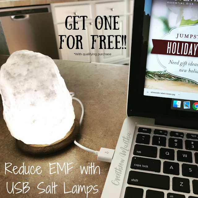 Reduce EMF radiation from computers, cell phones, and electronics naturally with a salt lamp