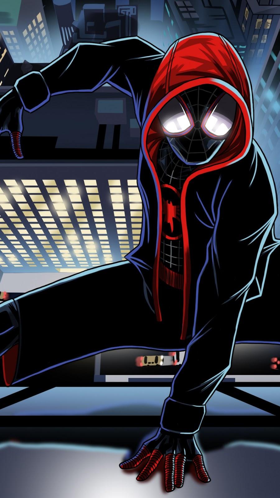 Papel de parede grátis Homem-Aranha Arte Digital para PC, Notebook, iPhone, Android e Tablet.