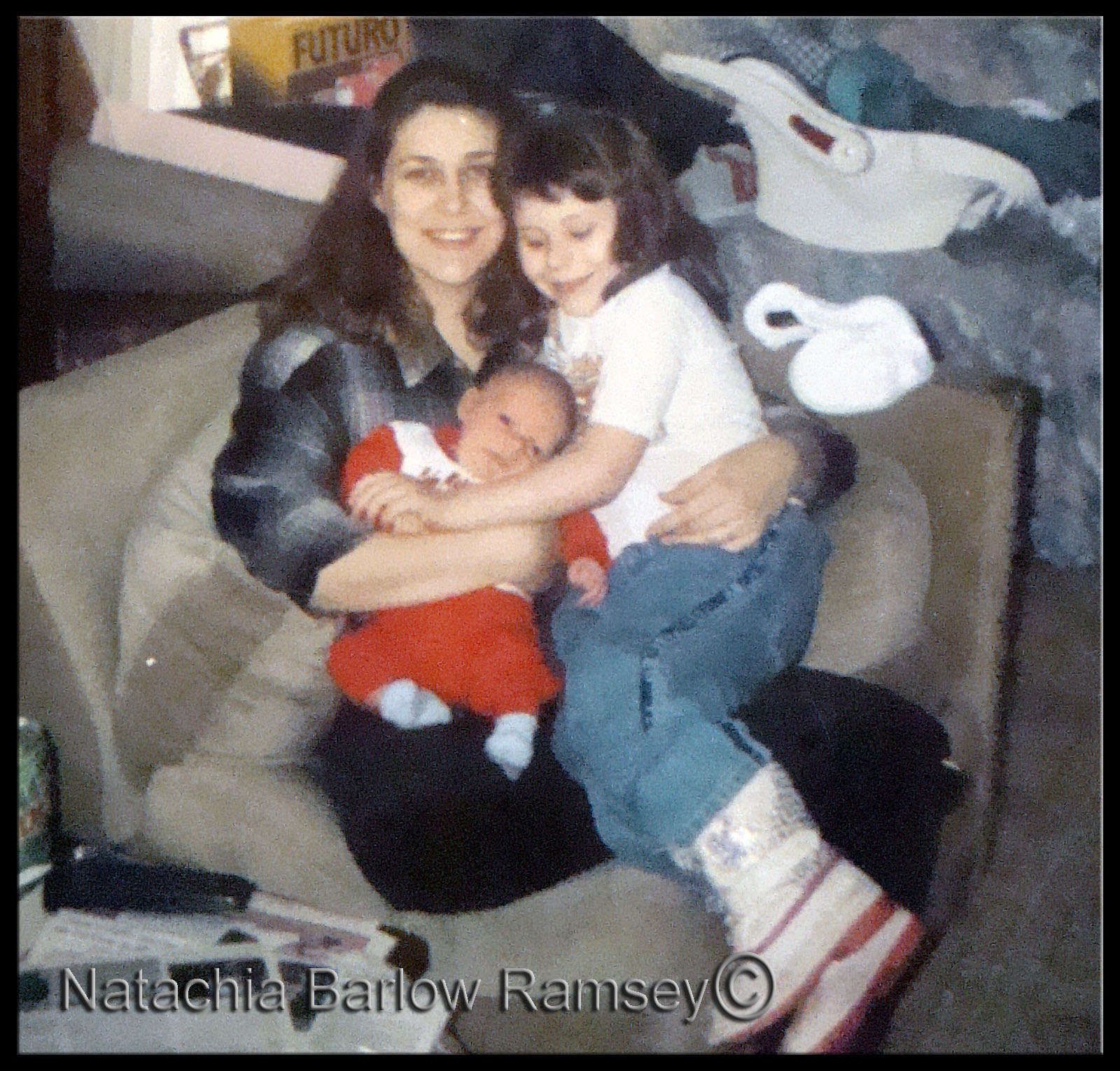 Natachia Barlow Ramsey, Postpartum Psychosis,Hunter,  Christopher Ramsey, Natachia and Chris Married