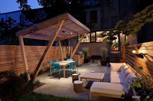 уютная терраса дома