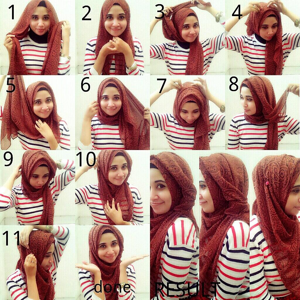Tutorial Hijab Rinis