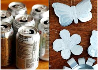 adornos elaborados con latas
