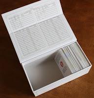 fast geleerte Kartenbox