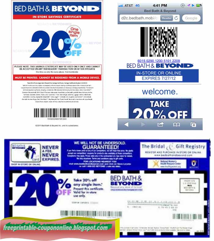 Online coupon for bed bath and beyond 2018
