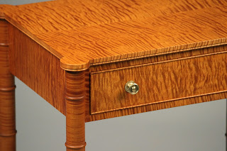 tiger maple nightstands