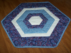 BLUE HEX TABLE TOPPER