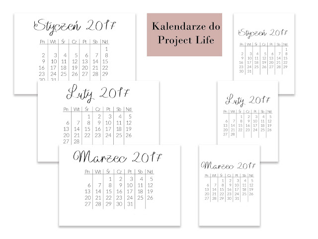 Kalendarze do Project Life
