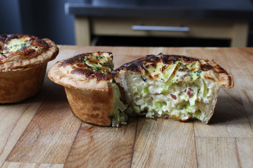 Leek Brie and Bacon Quiche