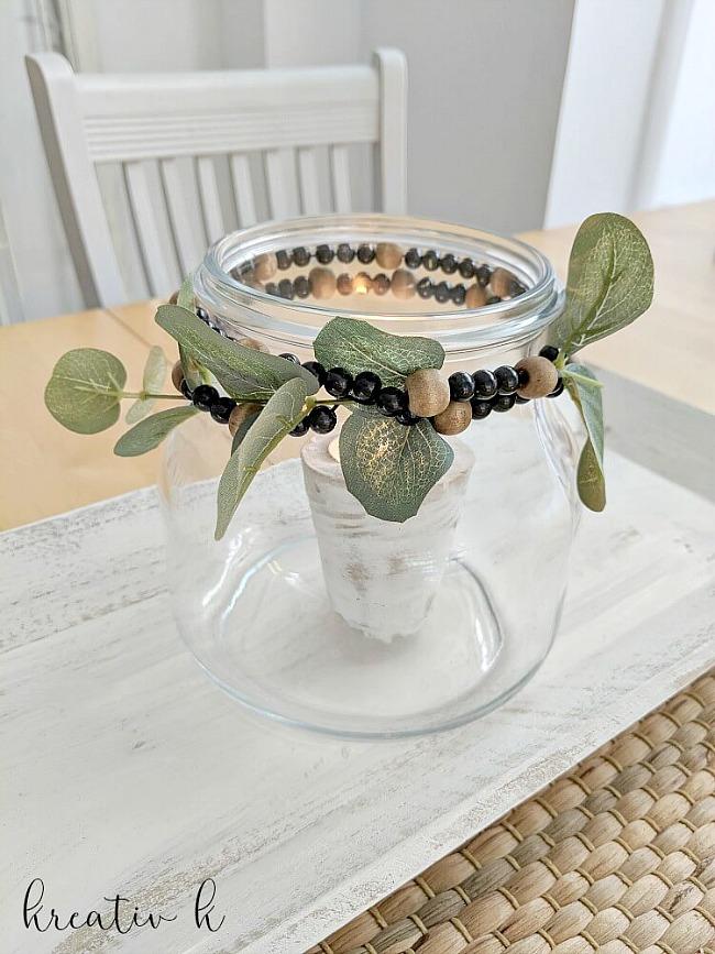 easy Nordic boho style candle light