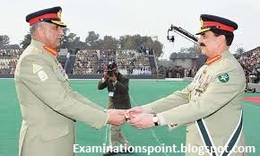 Change of Command Stick in Pak Army