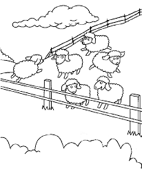 Feed Sheep At Farm Coloring Sheet Images