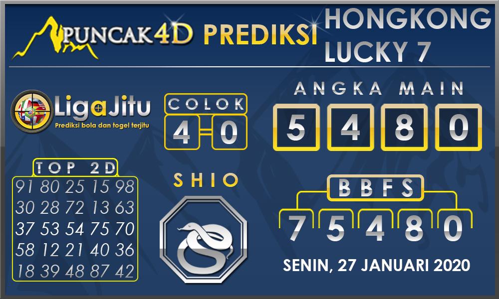 PREDIKSI TOGEL HONGKONG LUCKY7 PUNCAK4D 27 JANUARI 2020