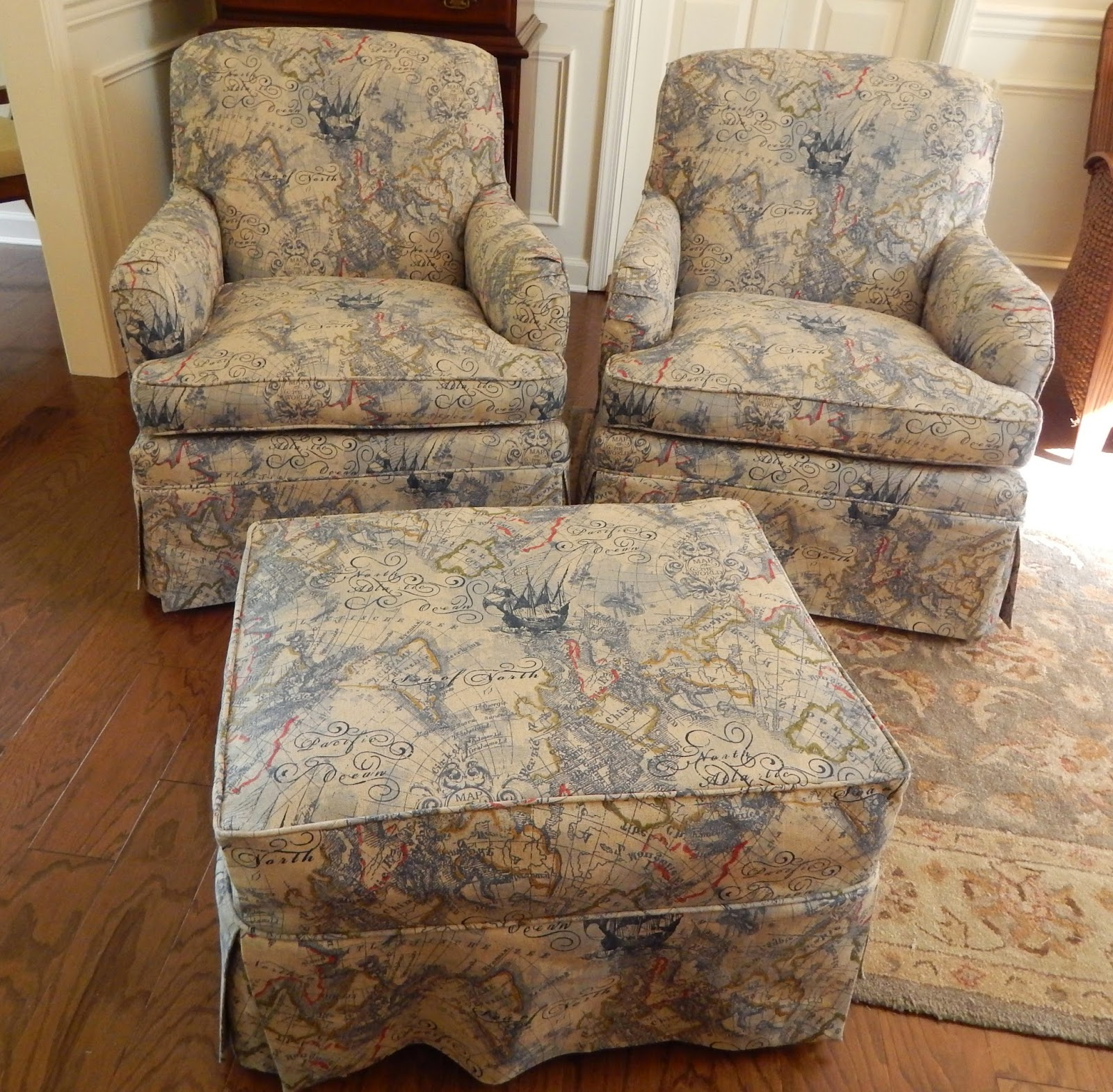 Slipcover For Oversized Chair And Ottoman Pam Morris Sews Slipcovers