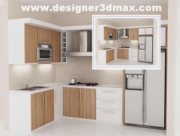 Gambar desain dapur kotor mungil contoh hu for Kitchen set terbaru