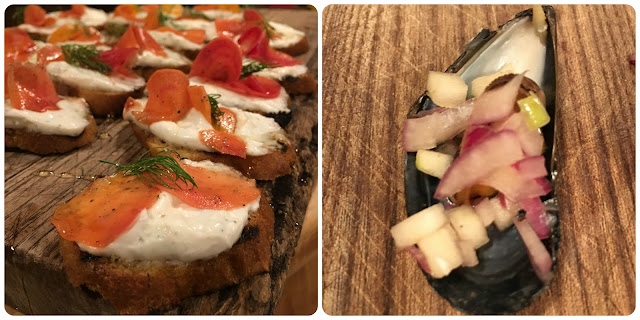 Winter Feast canapés at River Cottage #RiverCottageChristmas