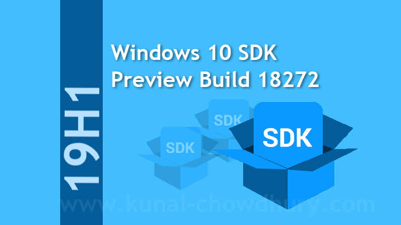 Download Windows 10 SDK Preview Build 18272 - the first SDK for the 19H1 feature branch