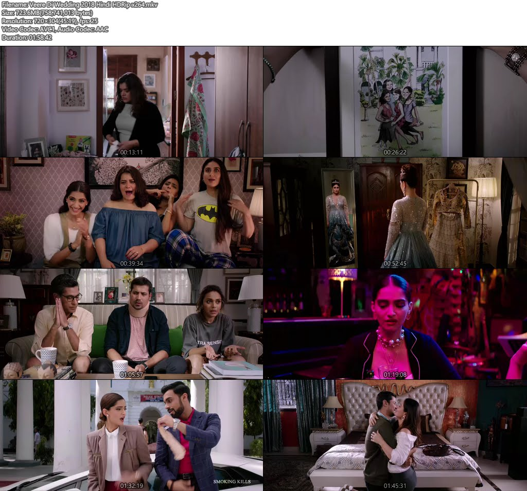 Veere Di Wedding 2018 Hindi HDRip x264 | 480p 300MB | 100MB HEVC Screenshot
