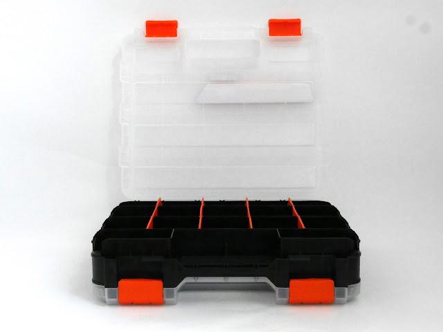 半透明で34個の小物が入るTACTIX両面パーツケースが凄く良かった。