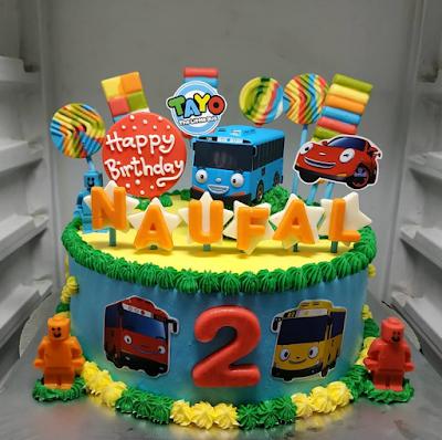 Gambar Tayo Contoh Kue Ulang Tahun Gambar Tayo