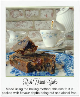 Made using the boiling method, this easy to make rich fruit cake is packed with flavour even though it is nut and alcohol free.