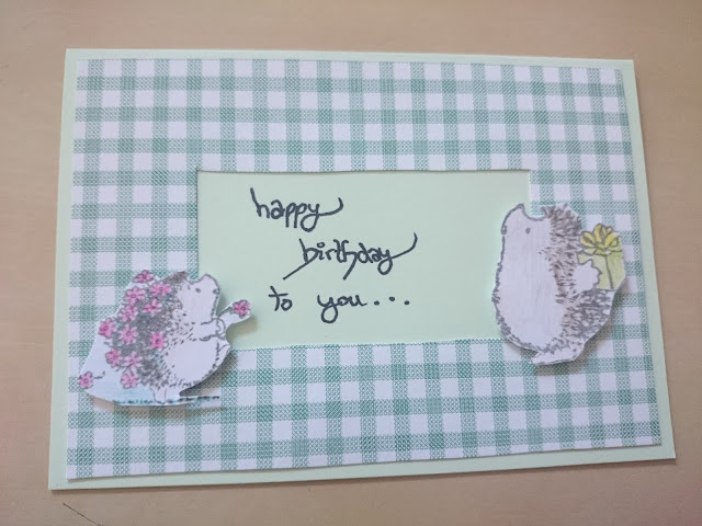 [DIY] Geburtstagskarte mit Igeln // Happy Birthday Card with Hedgehogs
