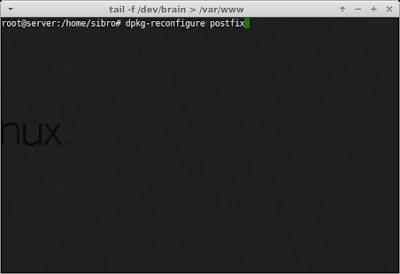 Lalu rekonfigurasi lagi postfixnya