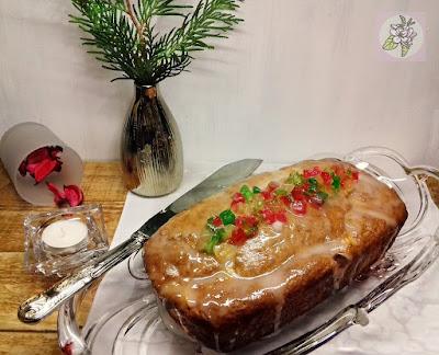 Cake Vegano de Frutas para Navidad