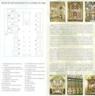 Panfleto da Catedral de Lima: Mapa