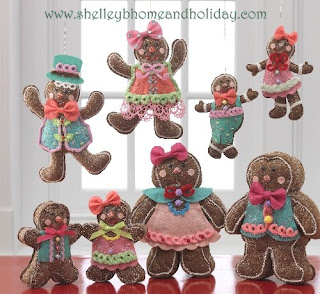 plush gingerbread Christmas ornaments