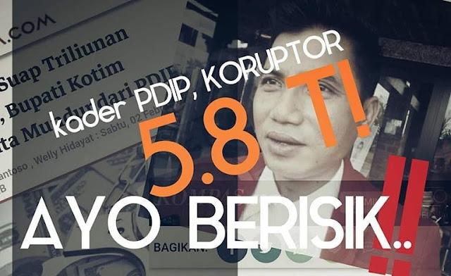 Kader PDIP Korupsi RP5,8 Triliun, Kok Koalisi Jokowi Membisu, Takut Ya?