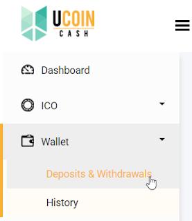 Cara Deposit Bitcoin ke UcoinCash