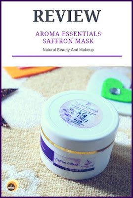 Review of Aroma Essentials Saffron Face Mask for dry skin on NBAM Blog