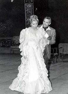 Olivero with Mario del Monaco appearing in Giordano's Fedora in Naples in 1965