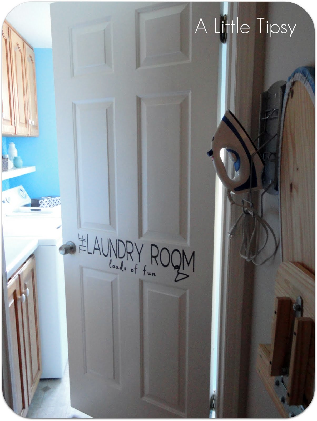 DIY Laundry Room - A Little Tipsy