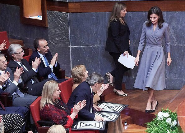 Queen Letizia attended the delivery the Award of the Observatory against Domestic and Gender Violence 2019