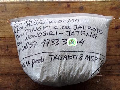 Benih pesanan EDI SUSILO Wonogiri, Jateng.   (Sesudah Packing)
