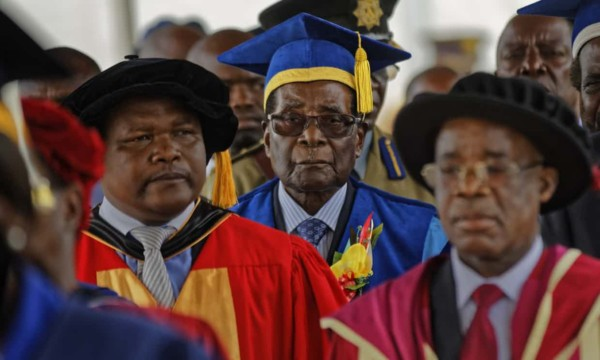Mugabe first appeared in public since the military force was acquired