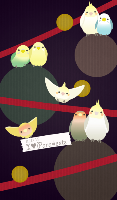 I Love Parakeets/Red15