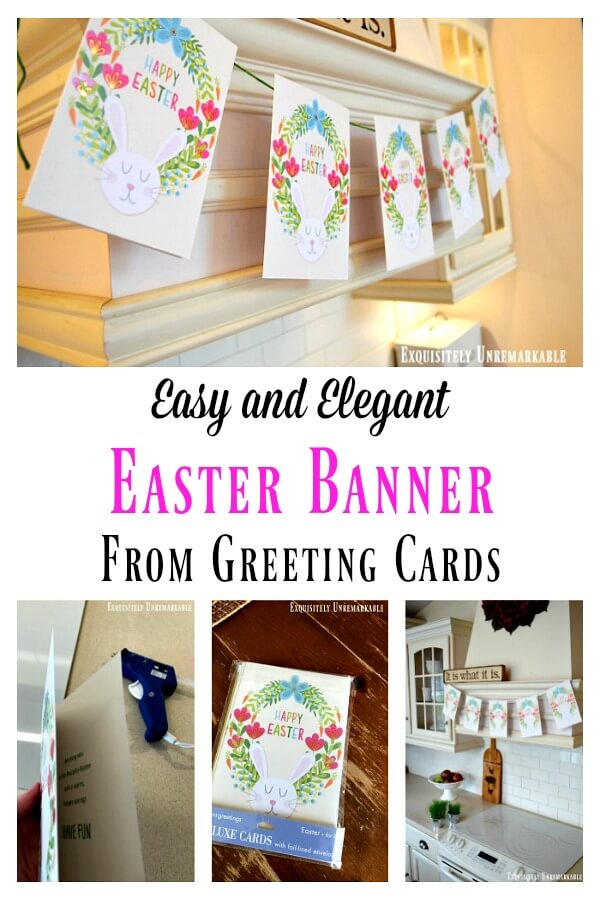 Easy And Elegant Easter Banner From Greeting Cards
