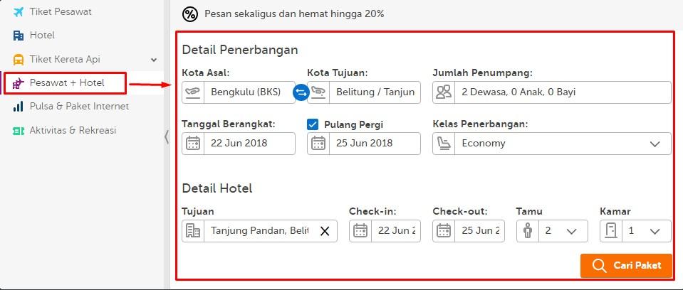 pesan tiket di traveloka, cara pesan tiket di traveloka