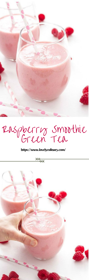 Raspberry Smoothie Green Tea #smoothie #drinks