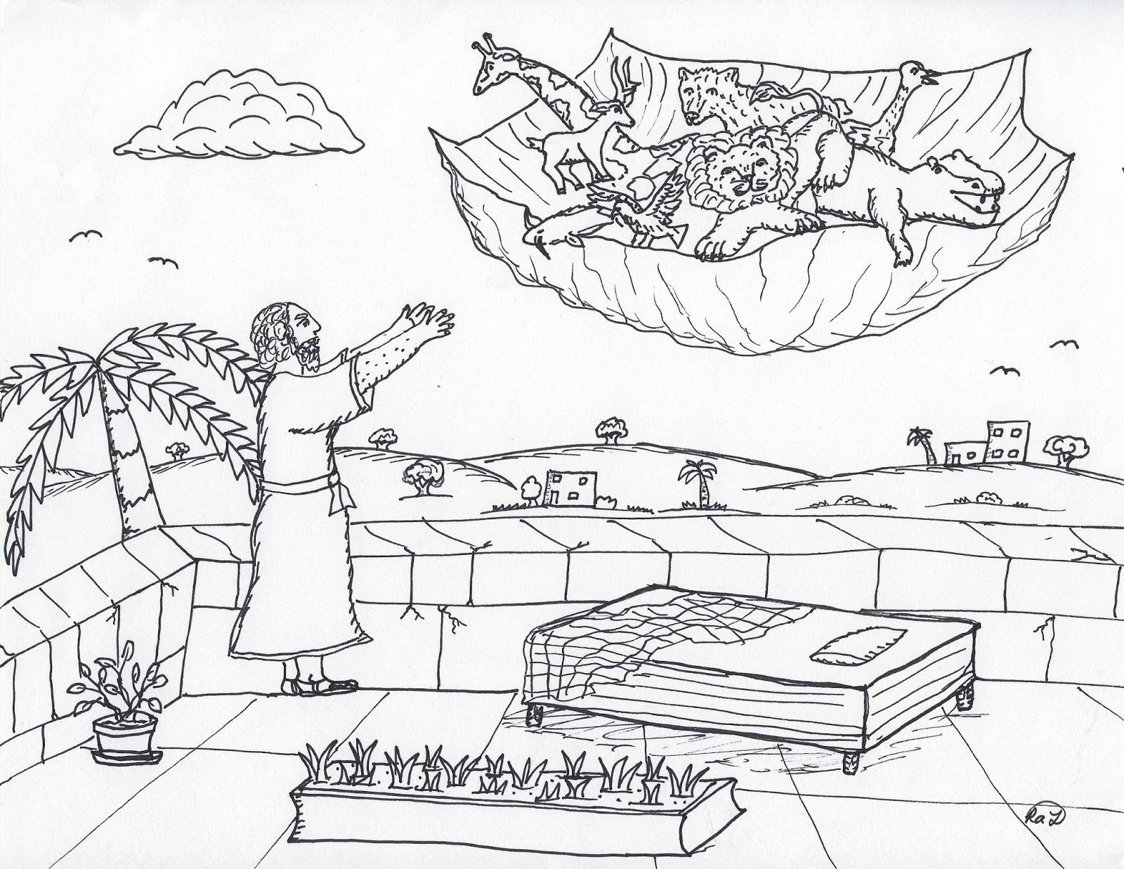 Robin's Great Coloring Pages: Apostle Peter and the