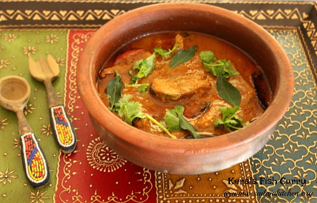 images of Fish Curry with Coconut Gravy / Kerala Fish Curry Recipe / Thenga Aracha Meen Curry