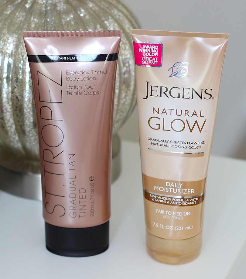 Jergens Natural Glow VS St. Tropez Gradual Tan Tinted Body Lotion