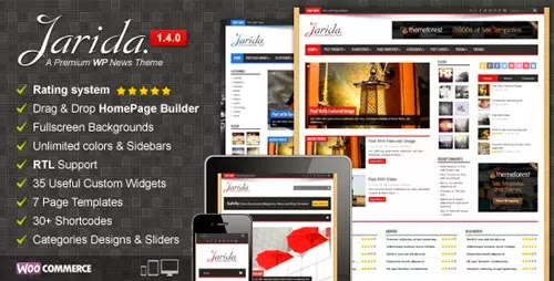 jarida wordpress theme
