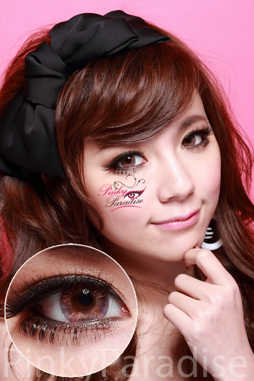 Vassen Rainbow Eyes Purplish Red On Dark Eye Circle Lenses (Colored Contacts)